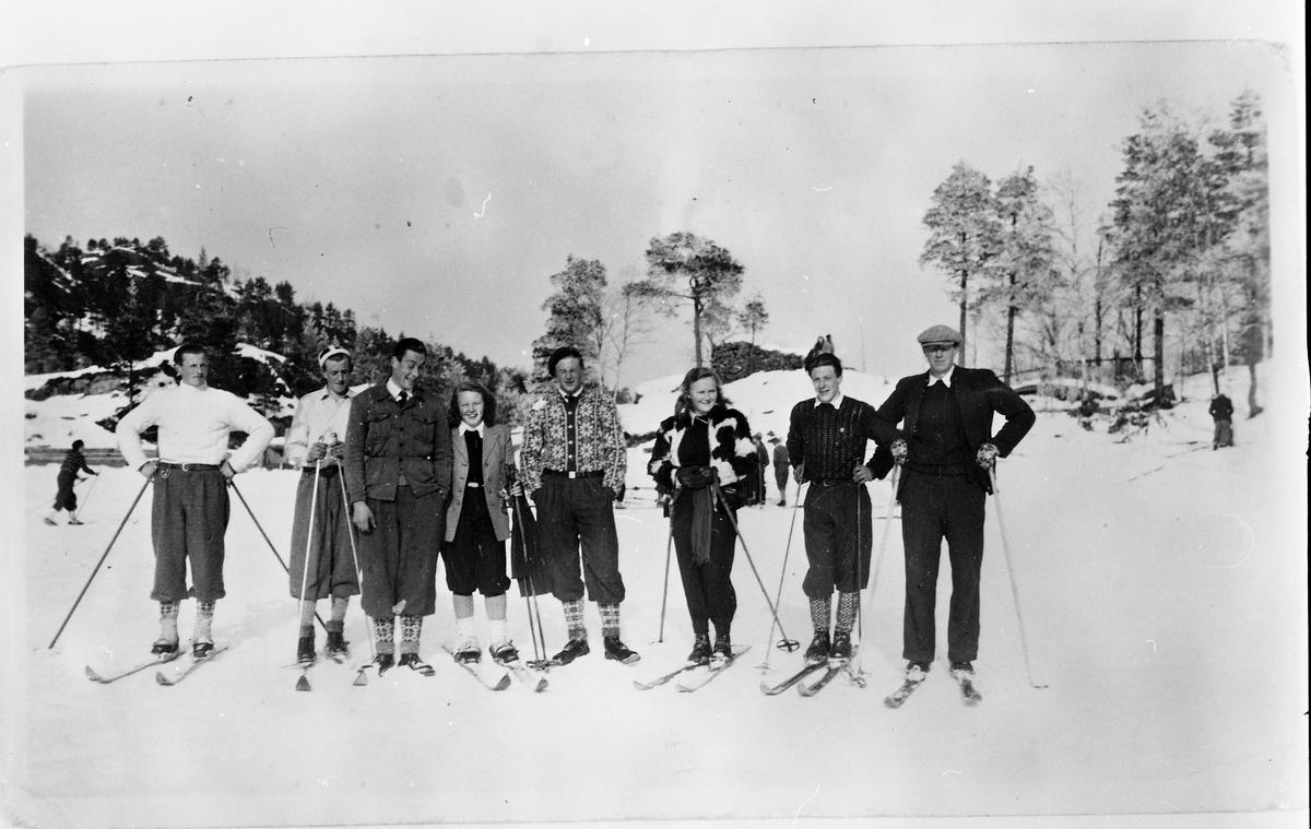 Skiløparar, 8 personar