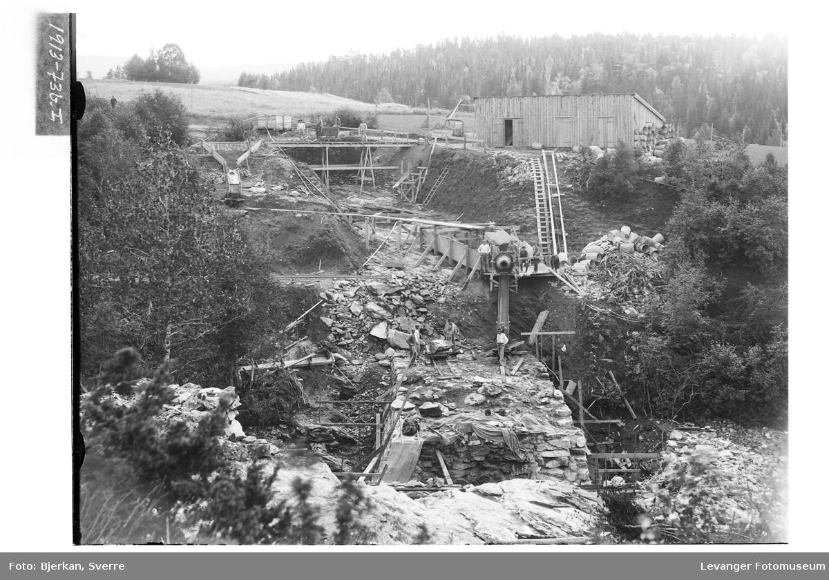 Rørgata fra Langåsdammen til Granfossen anlegges i 1913