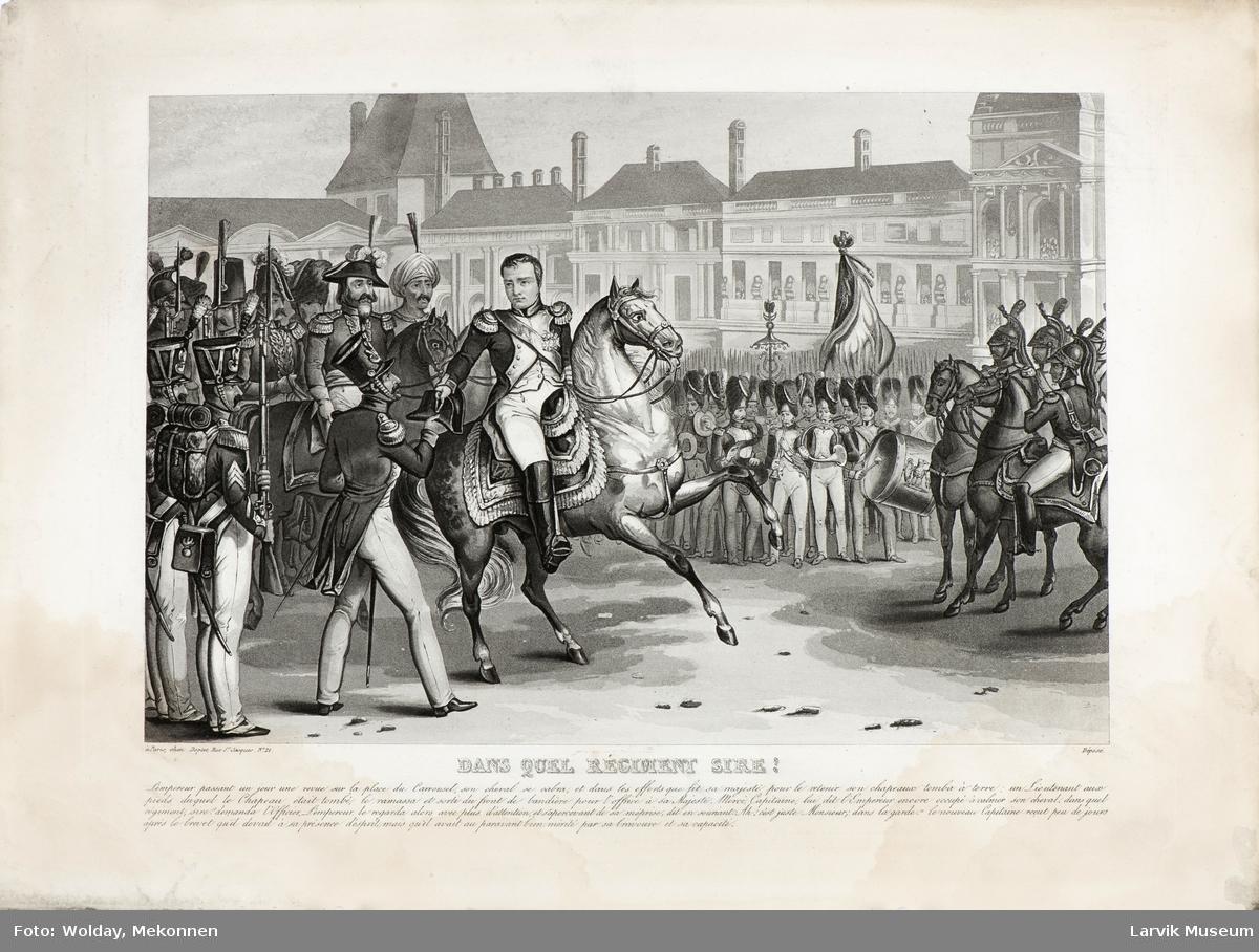 Napoleon omgitt av sine soldater