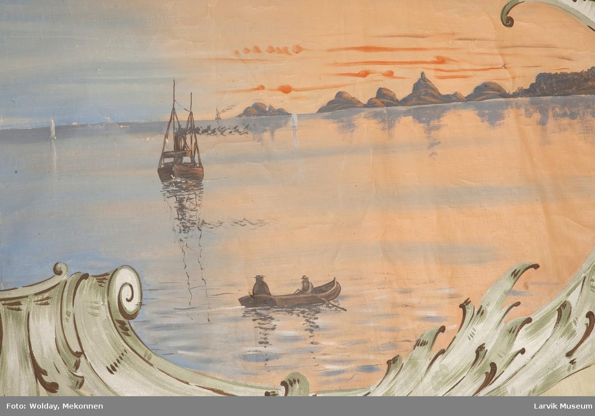 Larviksfjorden i solnedgang