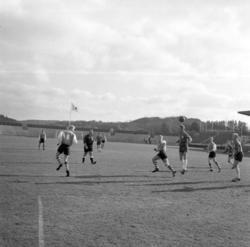 Fotbollsmatch, troligen mellan UIS och Munkedal