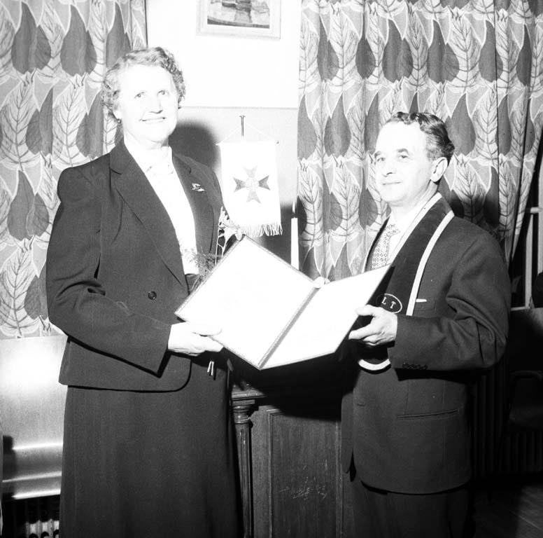 """Enligt notering: """"IOGT Frideborg, storlogemöte 10/2 1960""""."""