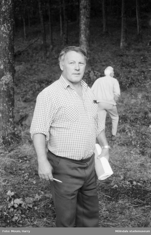 IK Uven arrangerar ungdoms-SM i orientering i trakterna kring Bunketorp i Lindome, år 1984.  För mer information om bilden se under tilläggsinformation.