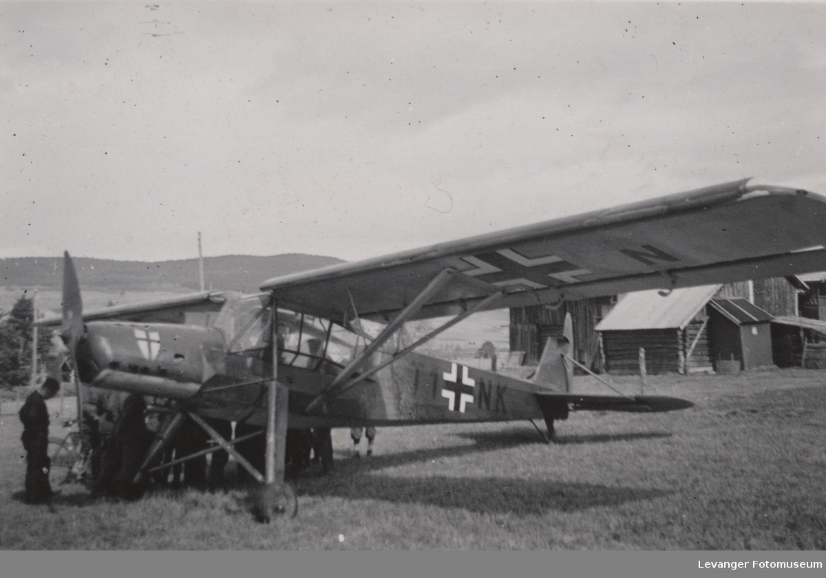 Flyet Fieseler Storch TI NK.  Flyet styrtet nær Gleivwitz 19.6.1941.