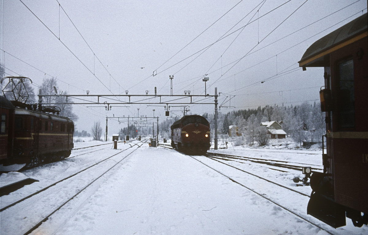 Tog fra Gjøvik til Oslo og og fra Oslo til Fagernes på Eina stasjon.