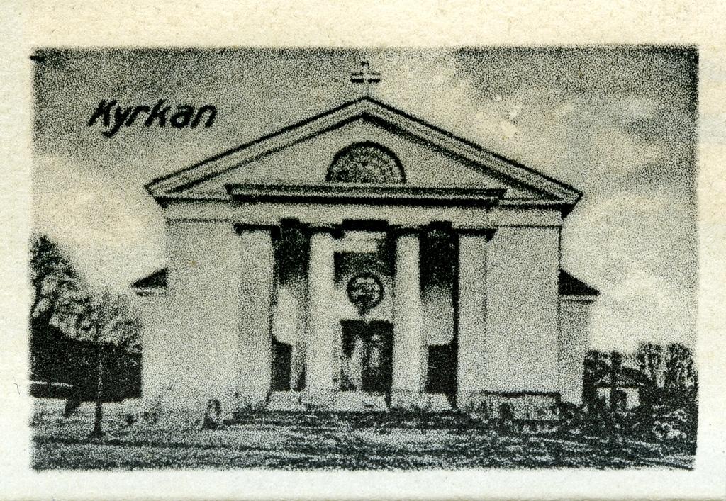 """Text till bilden: """"Kyrkan""""."""