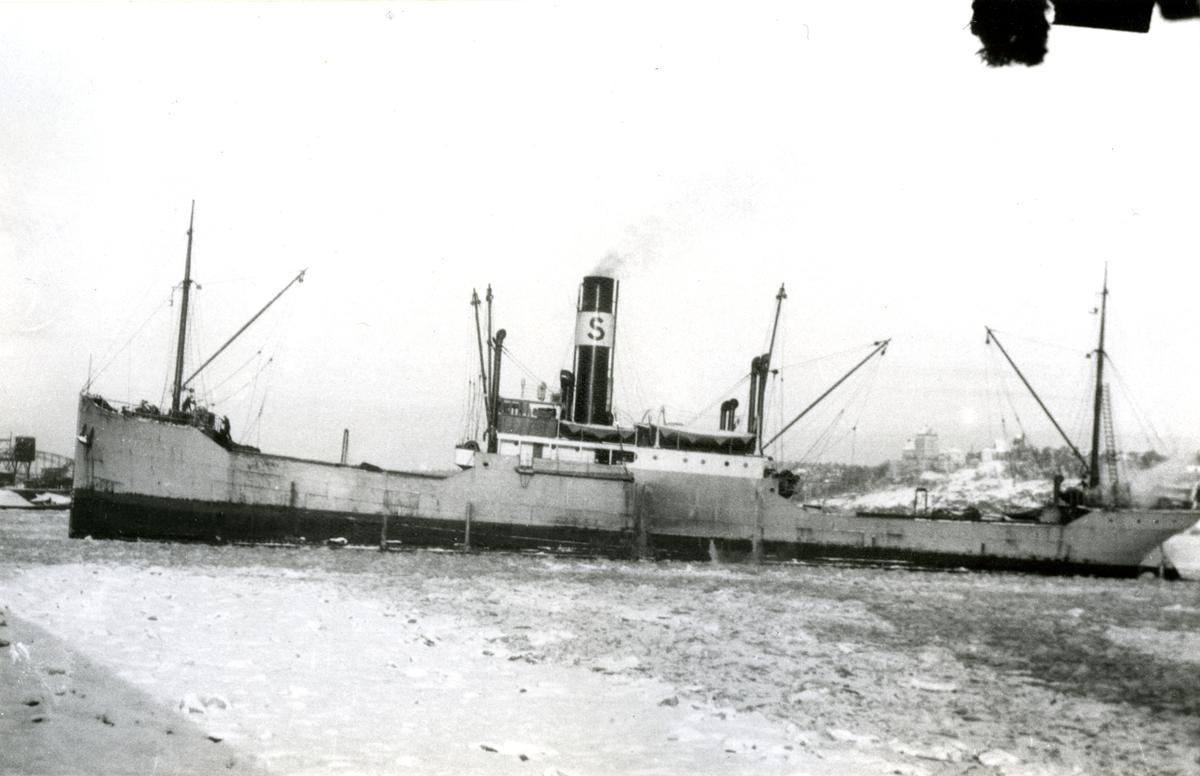 WASABORG i Värtahamnen den 18.1.1928.