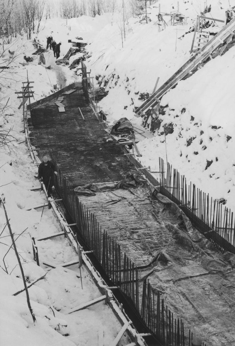 Støping av Tønsberg tunnel (kulvert) pågår.