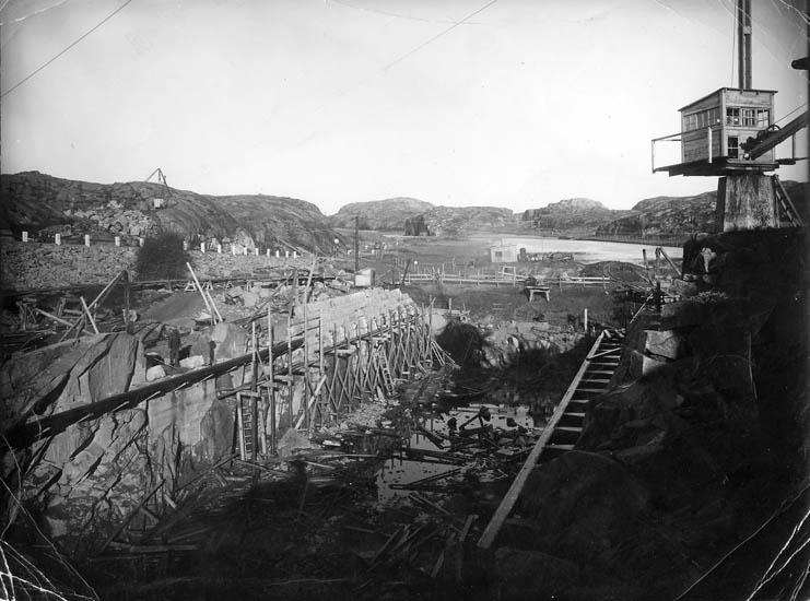 Byggnation av Sotenkanalen på 1930-talets början