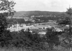 Uddevallautställningen 1928; vy över utställningsområdet frå