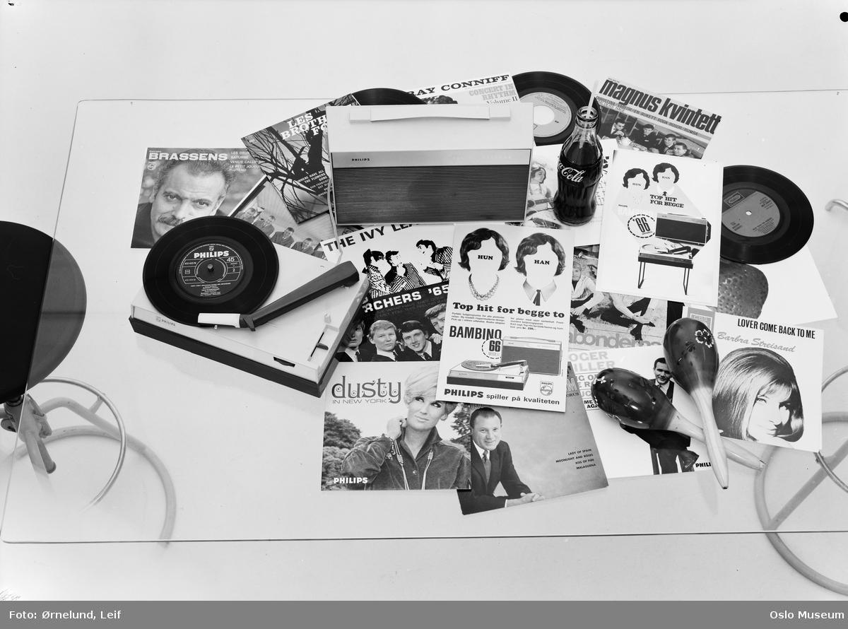 Avansert Bambino platespiller, LP-plater - Oslo Museum / DigitaltMuseum VU-99