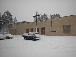 Katolisisme, interiør, eksteriør, Santa Klara kirke, kors, k