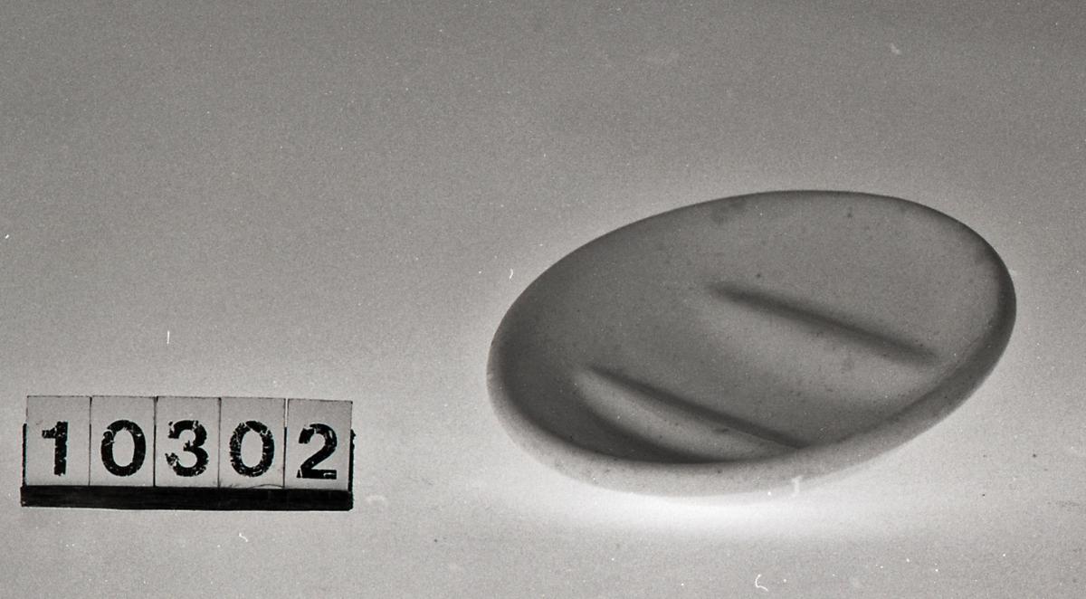 Såpeskål med riflet struktur inni