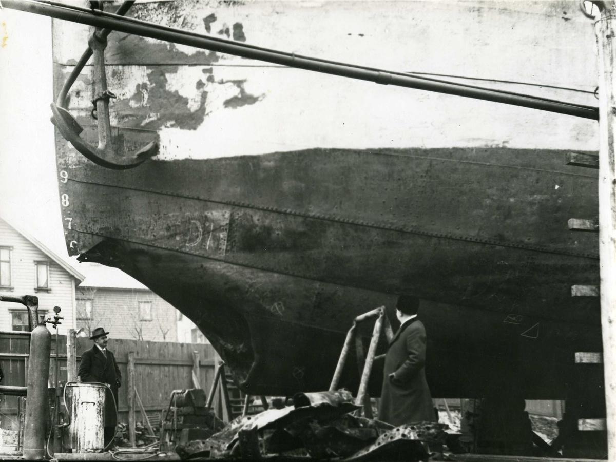 Ulykke - dampskip - industri - skipsverft