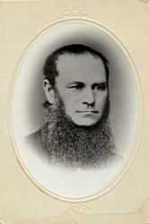 Portrett - Konsul, kjøpmann Tønnes Eide, f. 1814 - d. 1871.