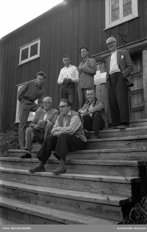 Sex konstnärer ställer ut på Fornhemmet på Norra berget.