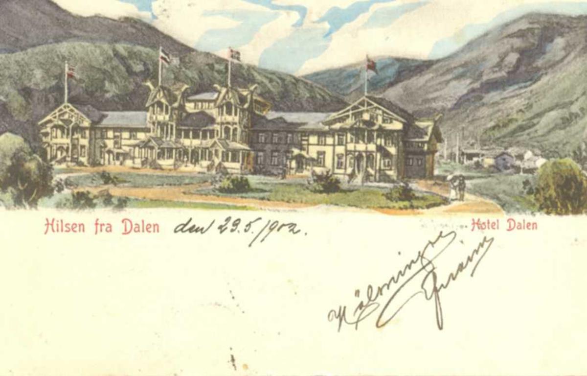 Teikning av Dalen Hotel