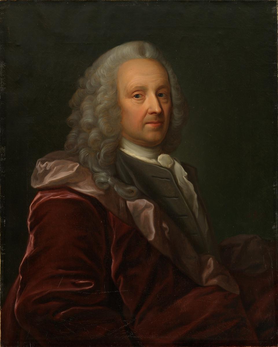 Portrett av Ludvig Holberg. Kopi etter Johan Rosel [Maleri]
