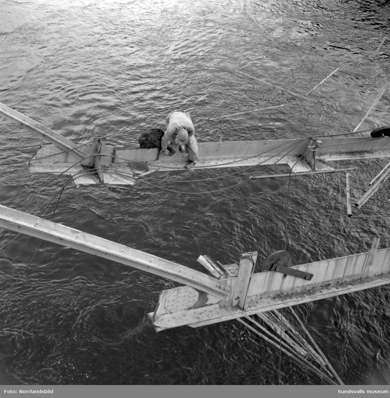 Gamla bron över Indalsälven i Liden.