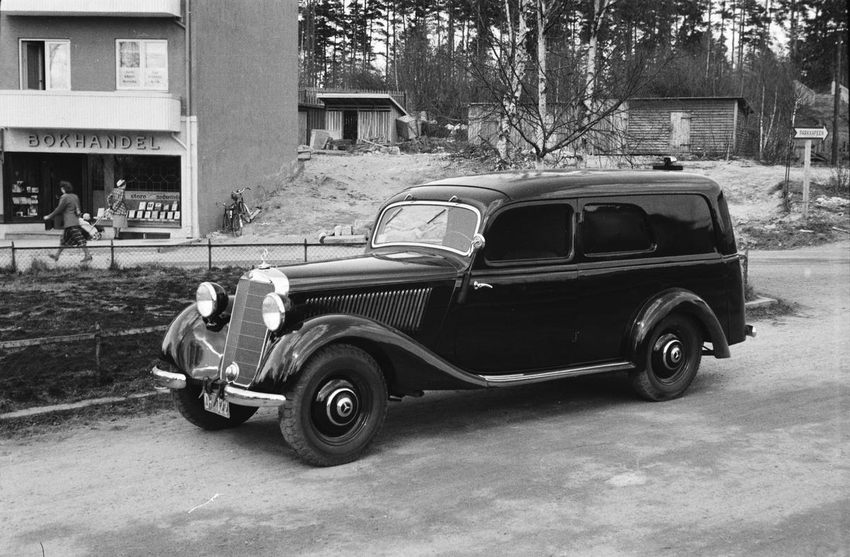 Parkert Mercedes Benz. Leiret, Elverum.