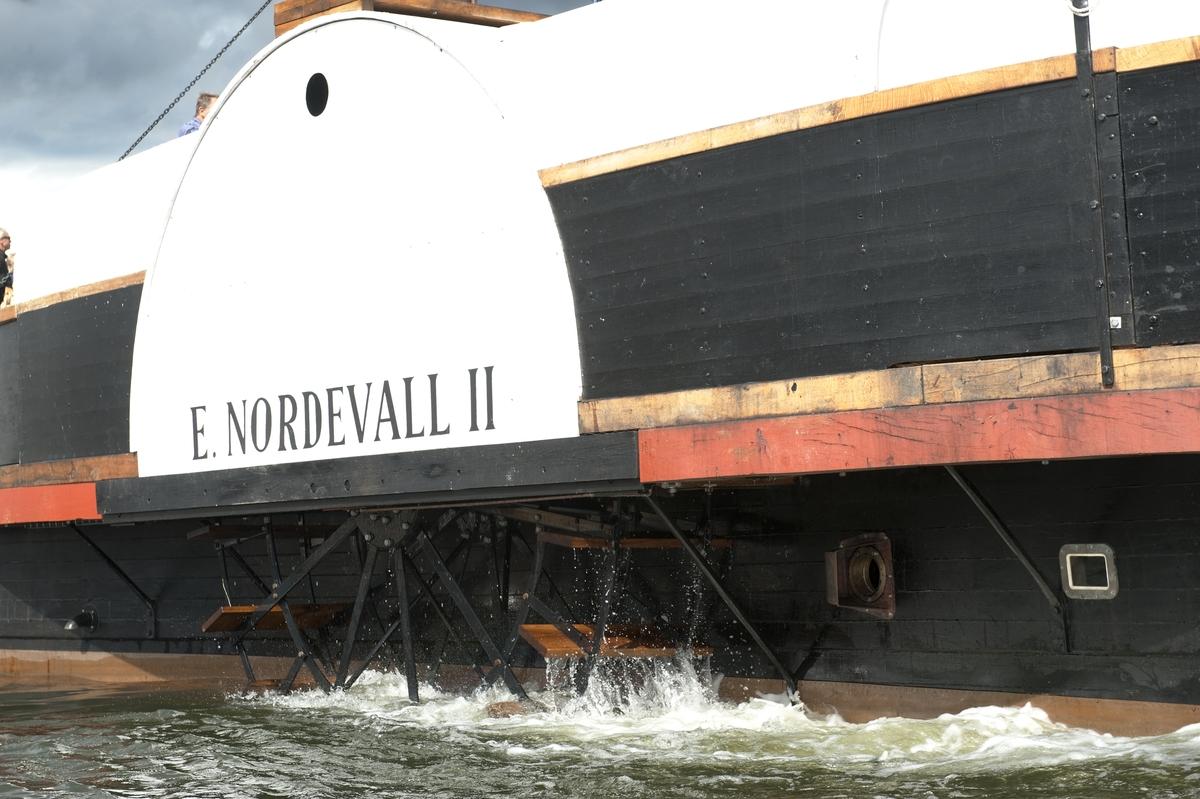 Hjulångaren ERIC NORDEVALL II är på besök i Stockholm vid Vasamuseet.