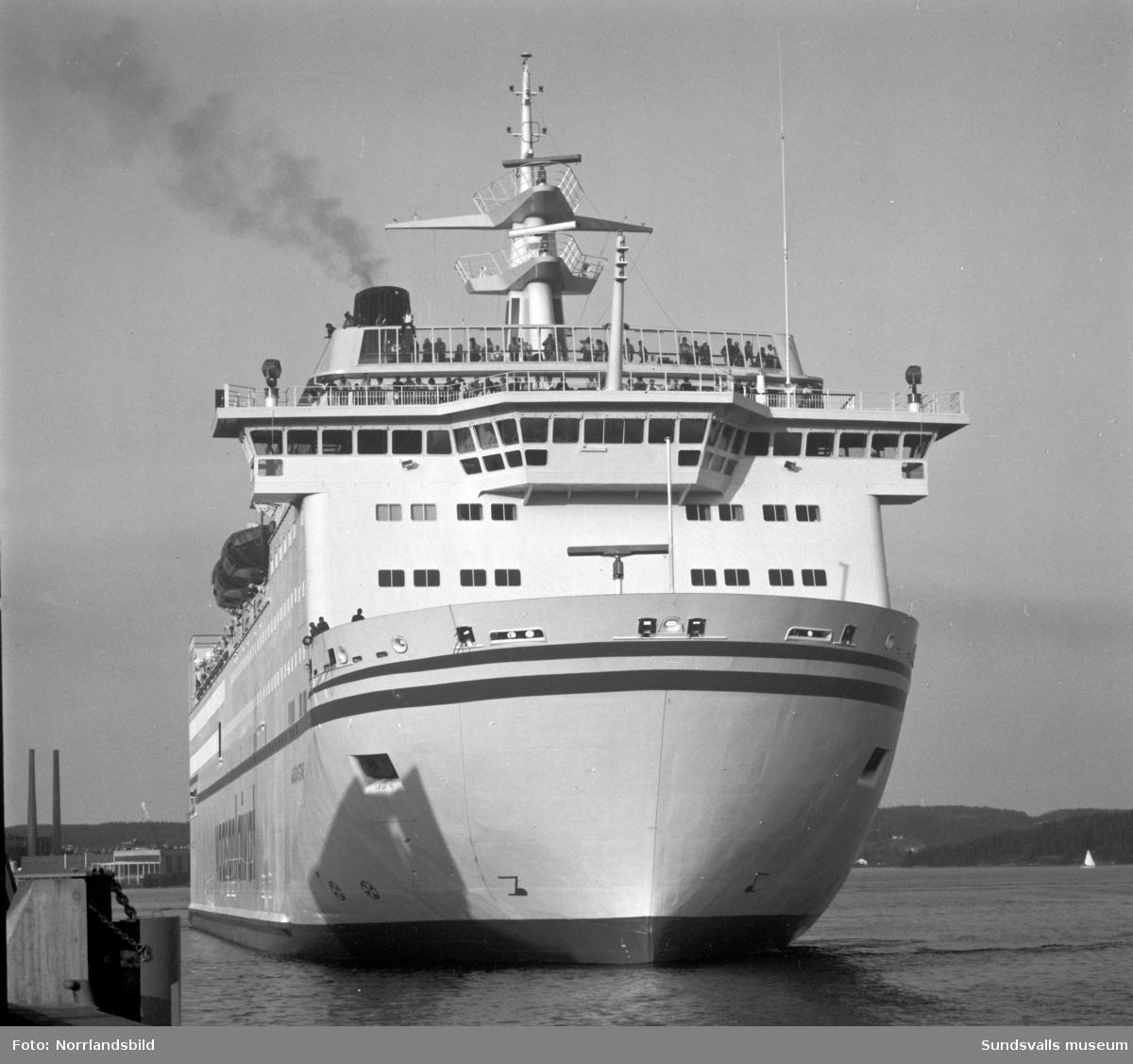 Jättefärjan Wasa Star som trafikerade rutten Sundsvall-Vasa 1981-1982.