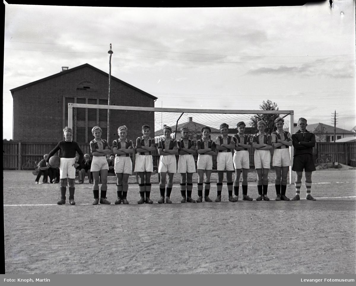 Unge fotballspillere på Steinkjer