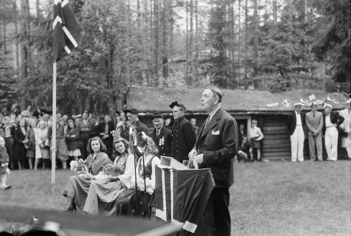 Glomdalsbruden. 15.06.1947. Elverum.  Glomdalsmuseet. Tale ved Francis Bull.
