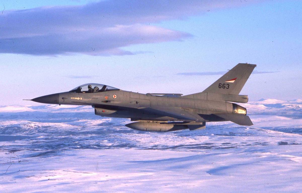 Ett fly i lufta, F-16A  663   334 skv.
