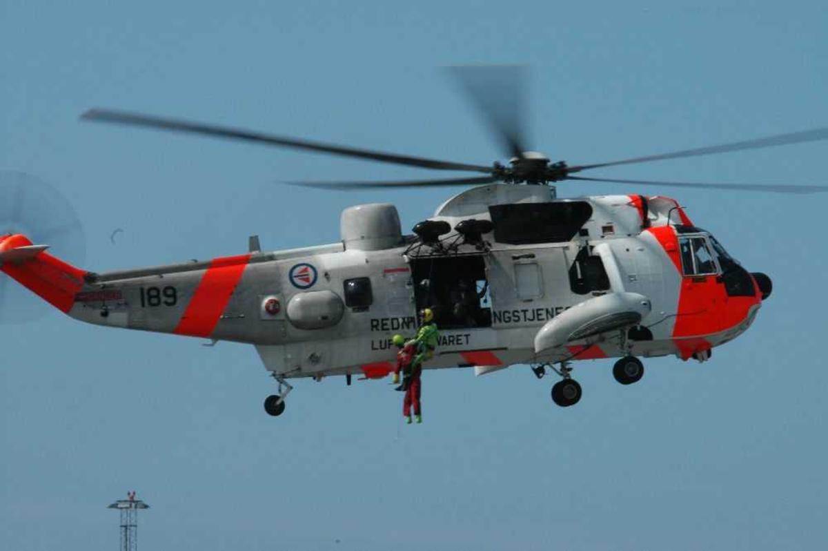 Ett helikopter i lufta, Sea King 189.