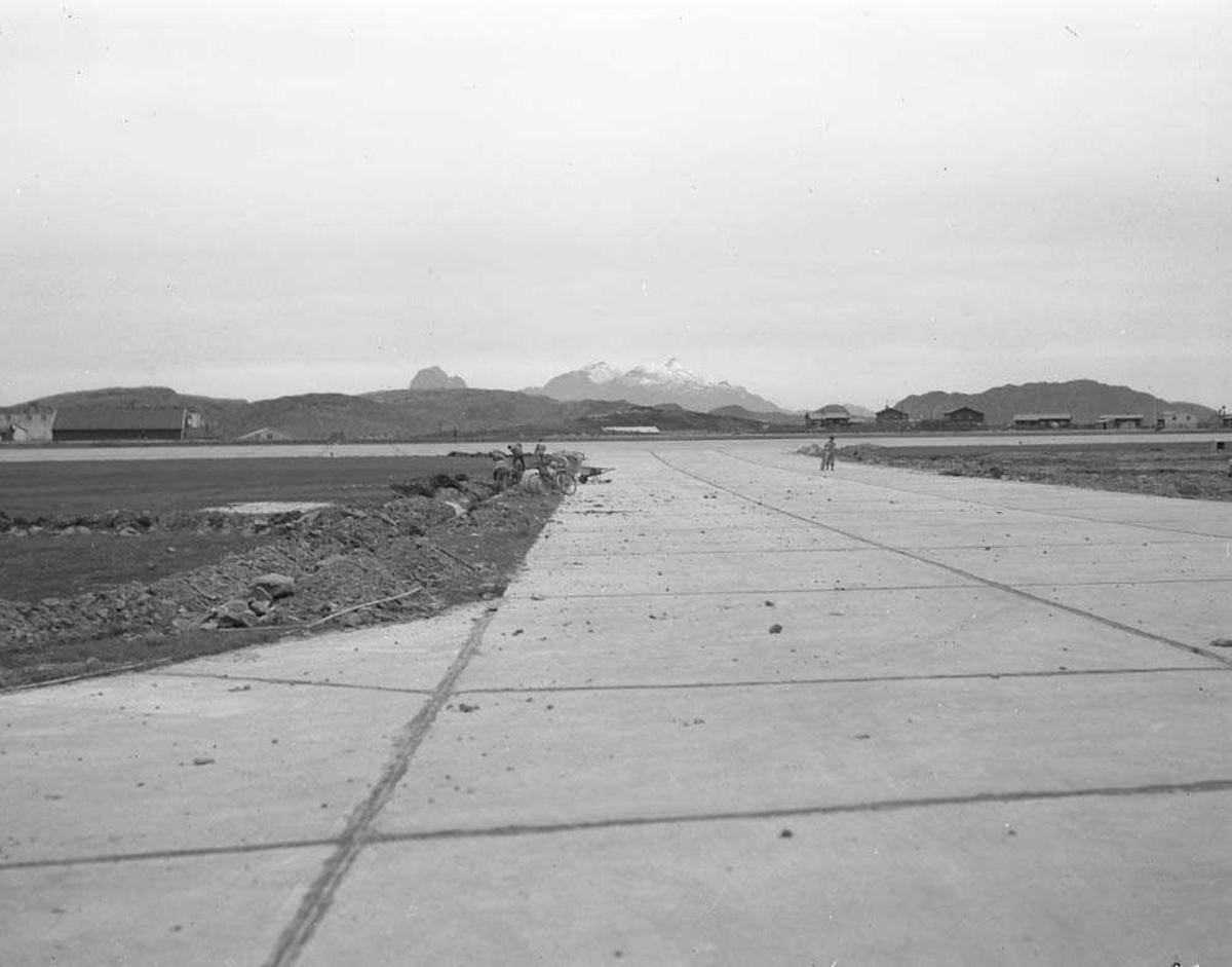 Oversikt over vestre skvadronsområde på Bodø flystasjon.