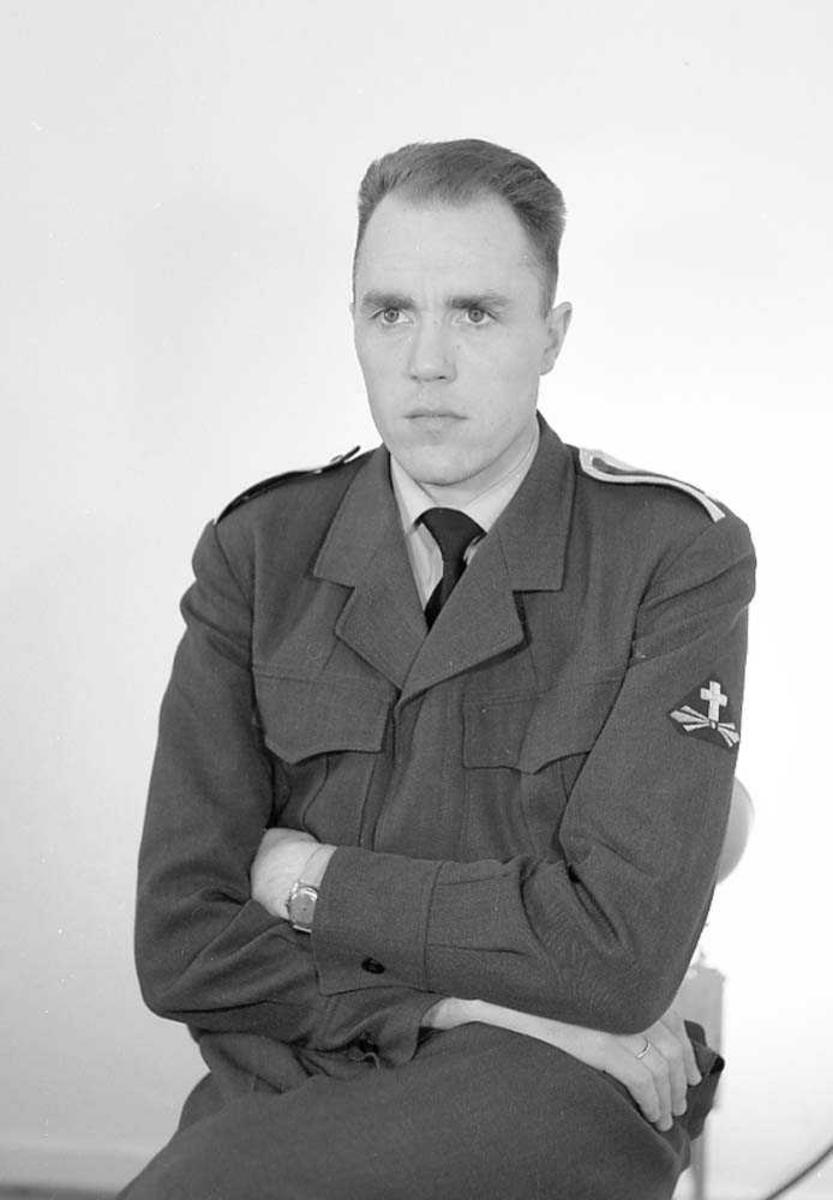Portrett av Major Knut Rydjord, LK-prest.