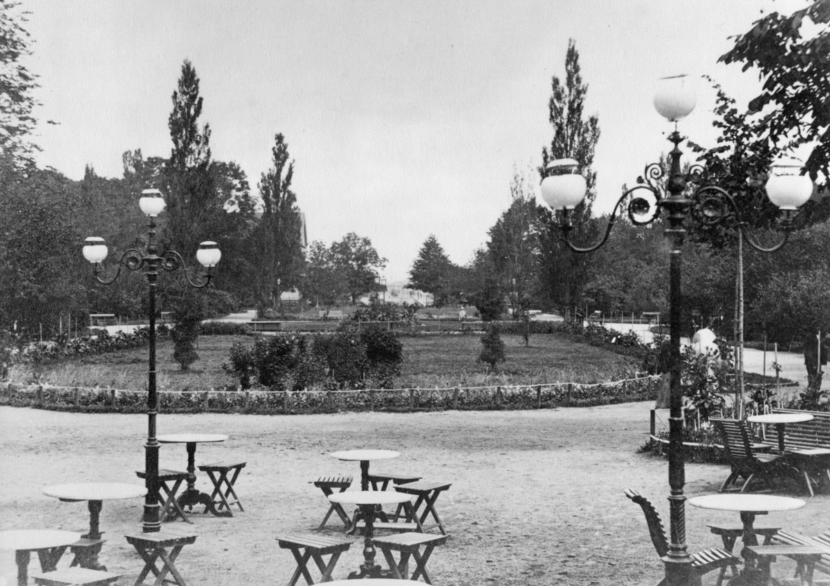 Övrigt: Utsikt från Schweitzeriet mot hoglands park 1880-talet