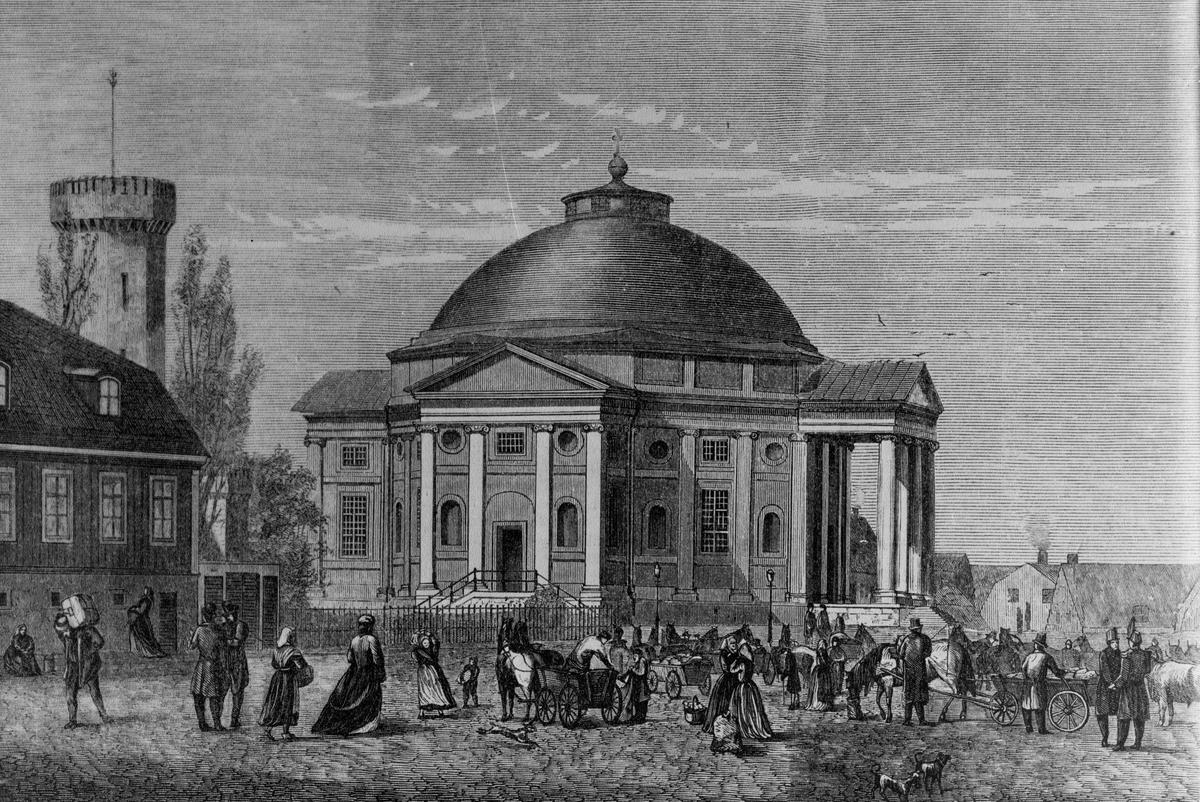 Övrigt: Tyska kyrkan eller trefadighetskyrkan på 1870-talet.