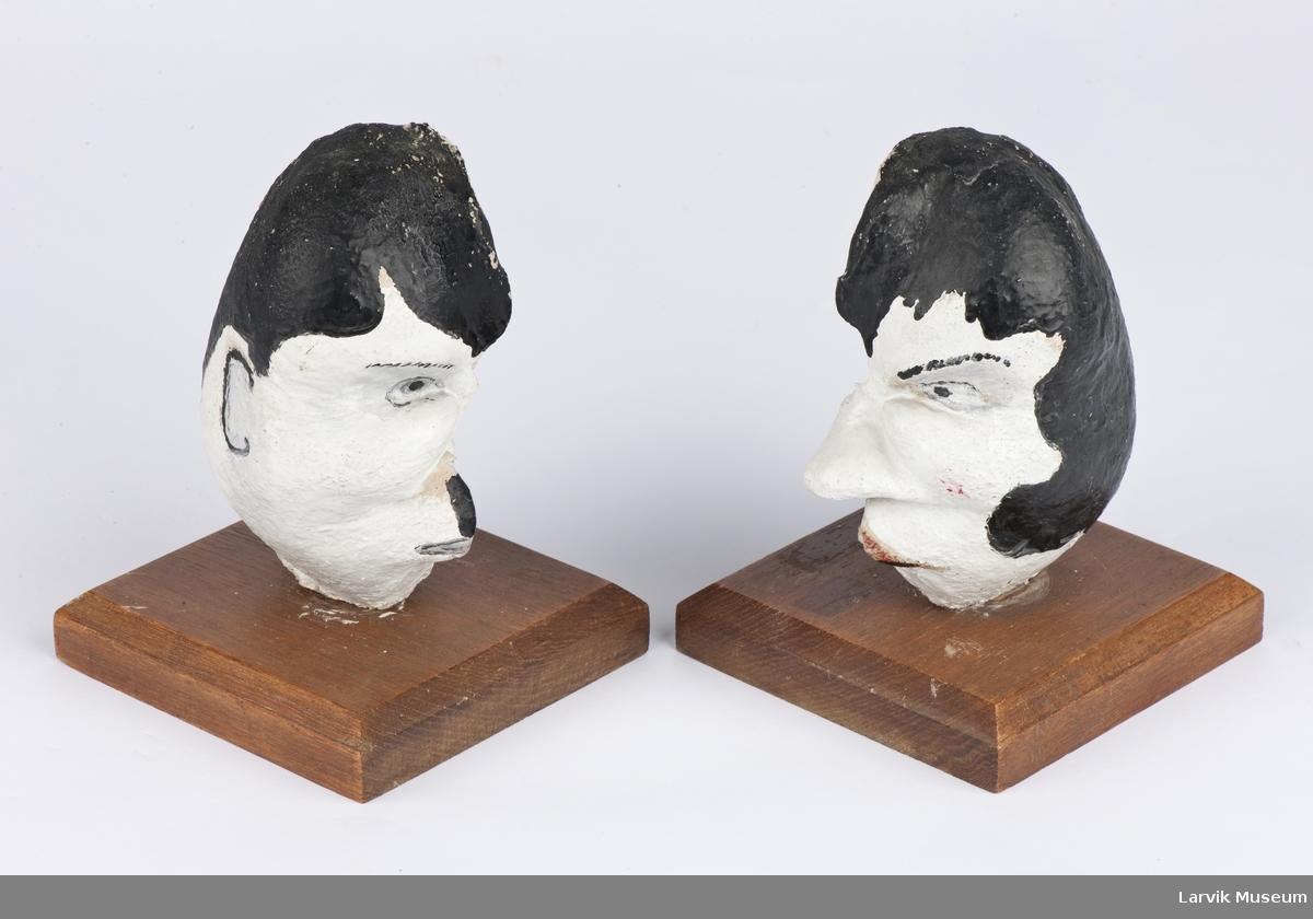 malt som kvinne- og mann ansikter