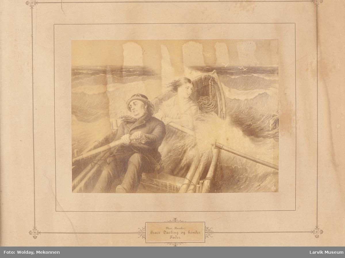 Thos. Brooks: Grace Darling og hendes Fader.