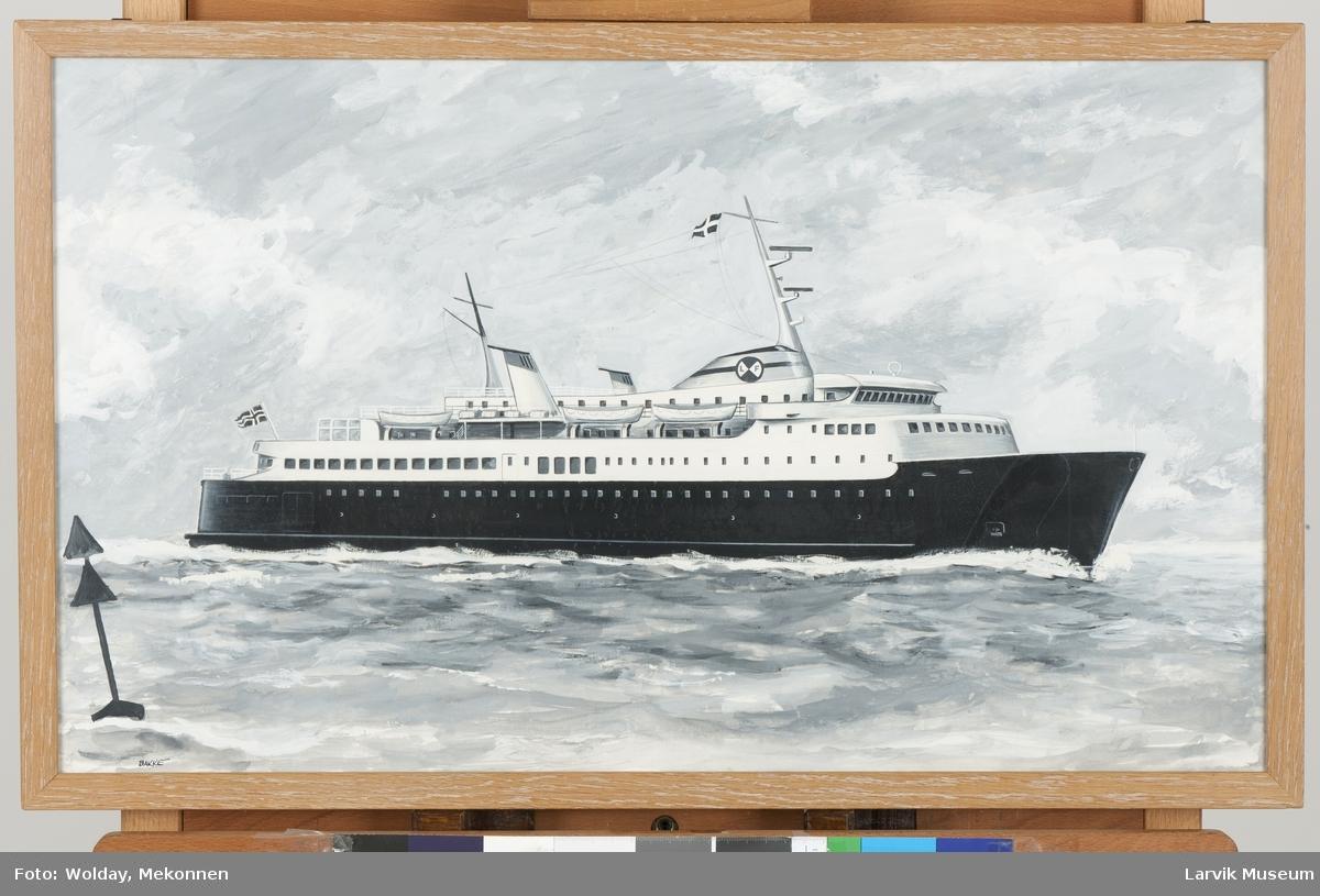 Larvik-Fredrikshavn-ferge. Utkast til en av båtene Larvik- Fredrikshavn.