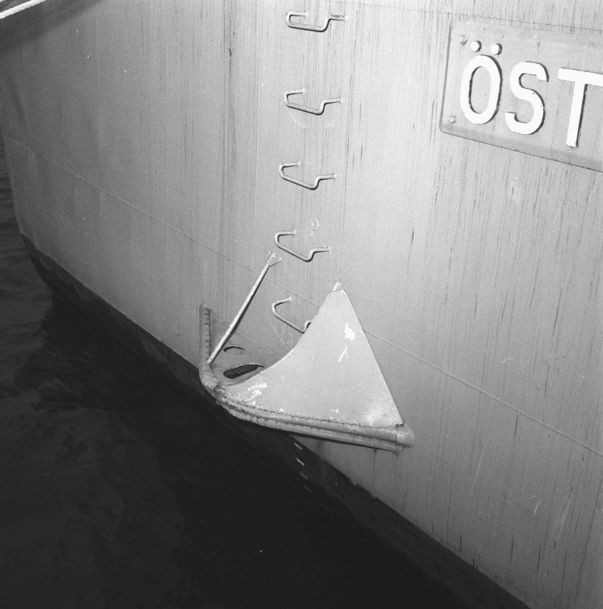 Rederi: Kungliga Flottan, Marinen Övrigt: Sprickor i däckshus.
