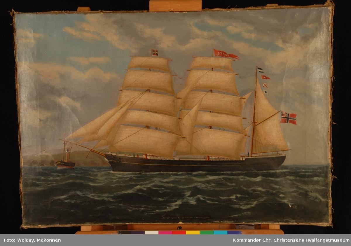 STADT ex canadisk WENTWORTH Nasjon: Norsk Type: Bark Byggeår: 1864 Byggested: Weymouth, Canada Verft: E. Everett Endelig skjebne: Opphugget 1897