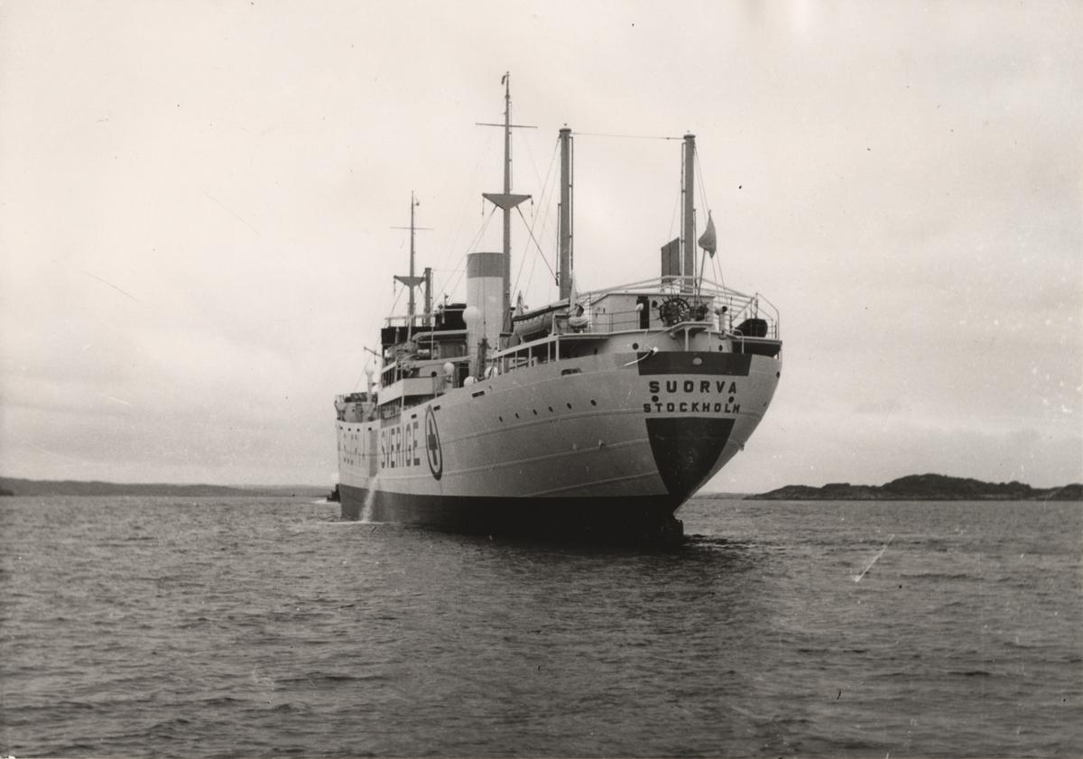 Lastmotorfartyget SUORVA av Stockholm.