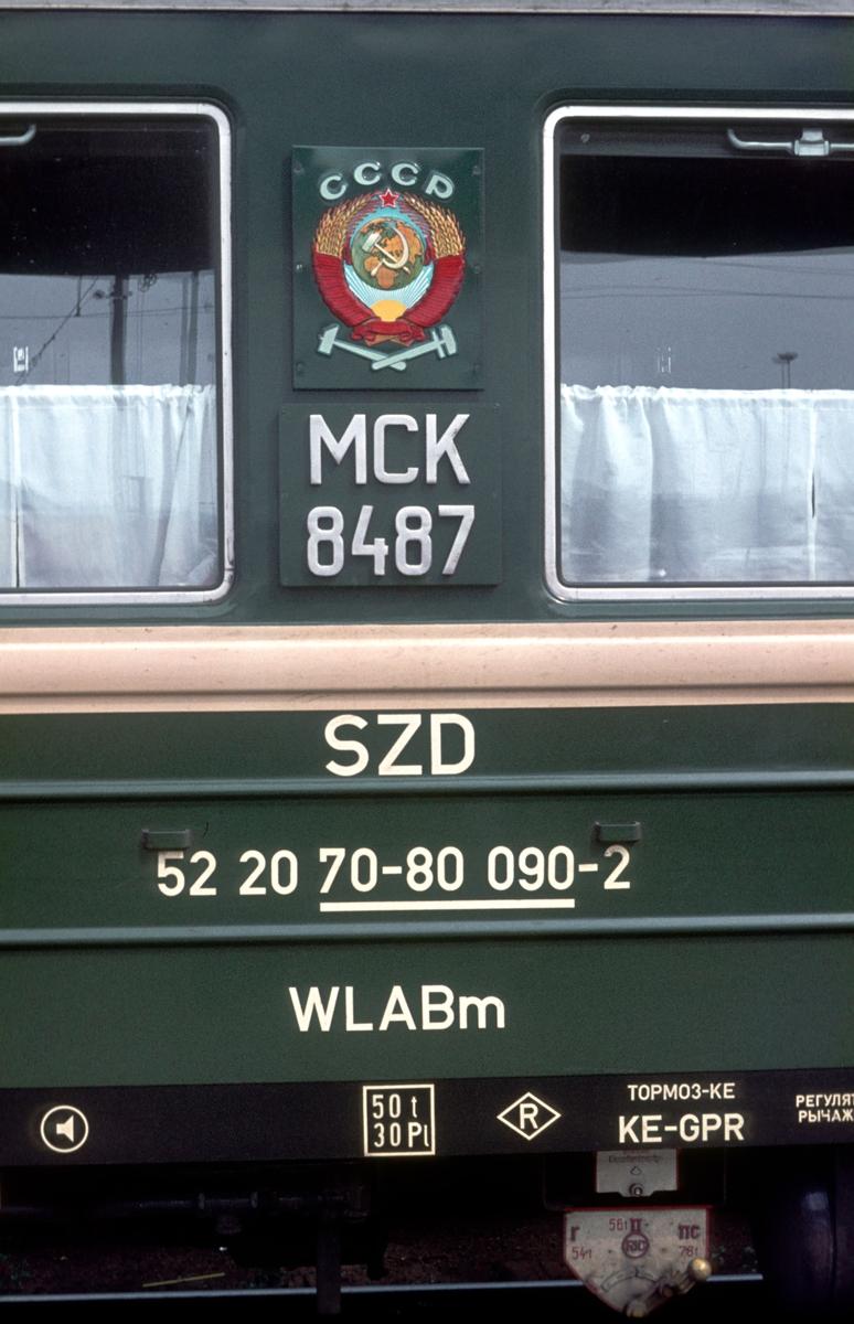 Sovevogn til Moskva på Østbanen.