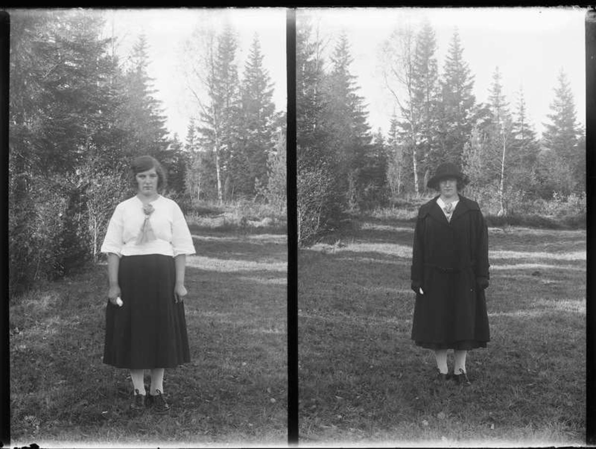 Olof Jonssons text: Ester Olsson, Parken 1923  Enligt församlingsboken så bodde familjen Karl Johan Hilmer Olsson (smed) på Parken 1921 han hade två dörrar Aina Helena och Ester Sofia. Ester var född i Forshälla 1907-09-18.