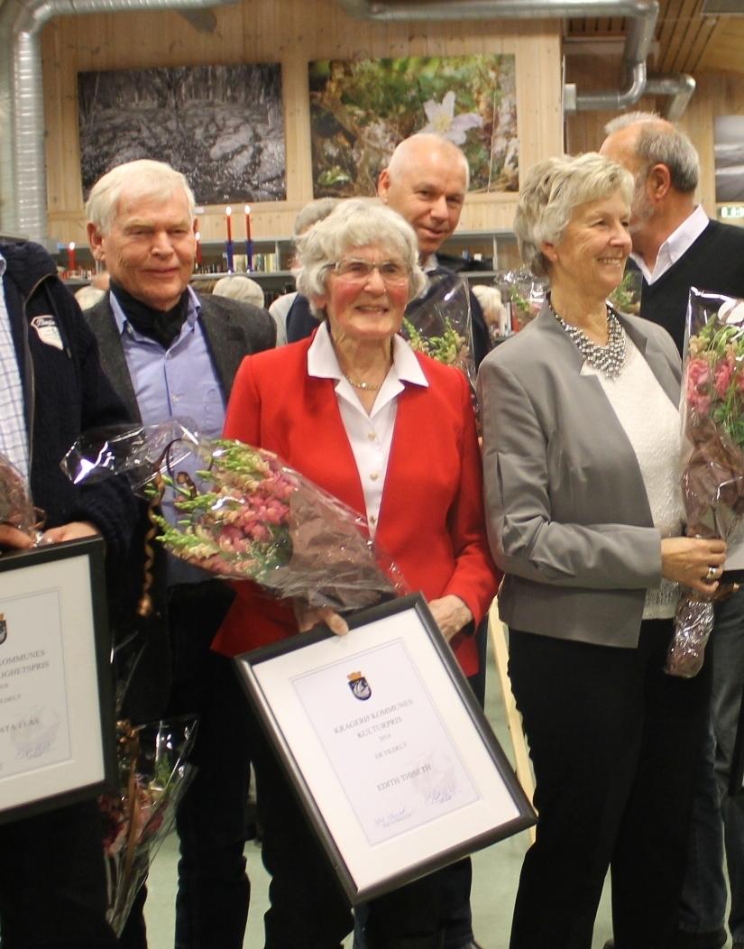 Edith Thiseth fikk den  4.12.2014 Kulturprisen for Kragerø. Hun har jobbet i mange år med kultur for Berg-Kragerø Museum og Kragerø Historielag. Overrekkelsen var i biblioteket ved varaordførerer Henriette Fluer.   Else Bjørg Finstad i bildet nr. 2. Hun fikk prisen noen år siden.