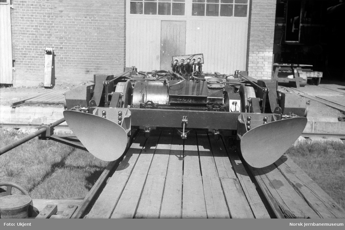 Boggi til elektrisk motorvogn litra Cmeo type 105c (BM 65C) på Skabo Jernbanevognfabrik