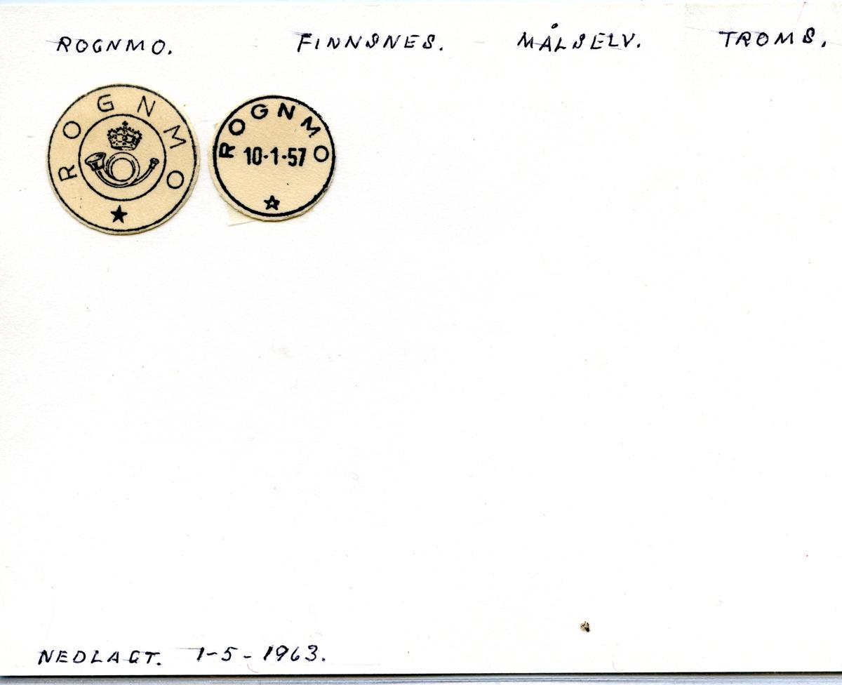Stempelkatalog Rognmo, Finnsnes, Målselv, Troms