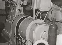 Lastmotorfartyget FIDRA av Stockholm, b. 1939. Lastrummet. K