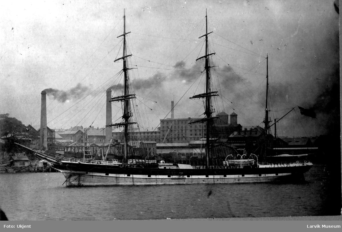 "Fartøy, seilskip, ""Barossa"" av Larvik"