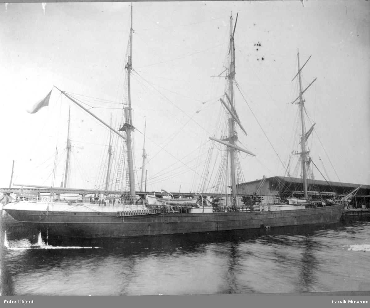 Fartøy, seilskip, barken Edderside av Larvik