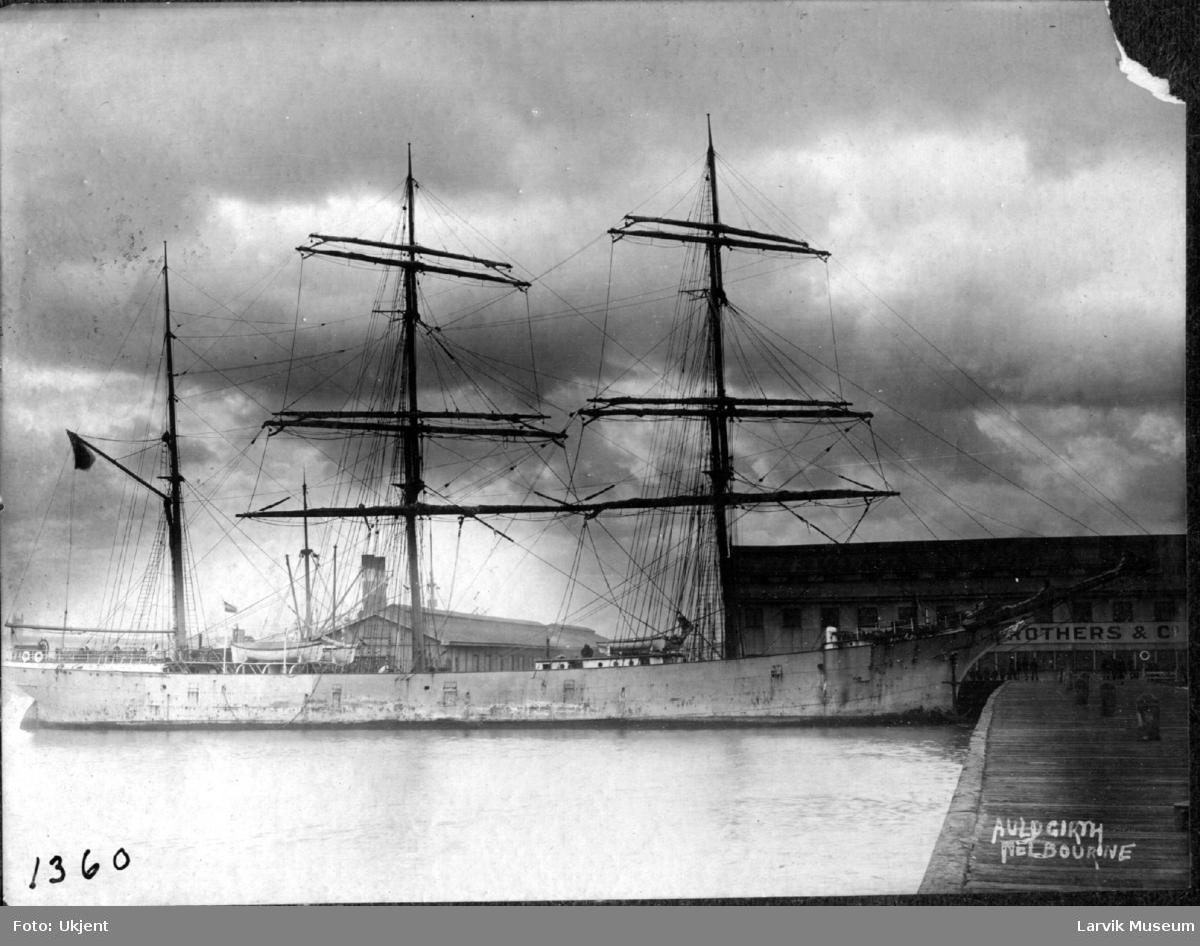 """fartøy, seilskip, bark """"Auldgirth"""""""