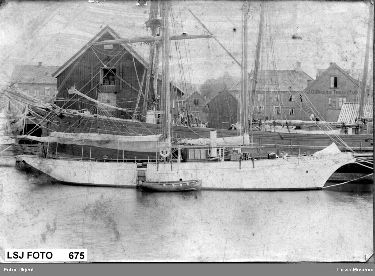 """fartøy, damp- og seilyacht, """"Veslemøy"""""""